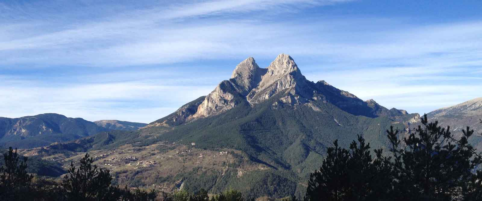 Pyrenean mountain in Catalonia, Spain