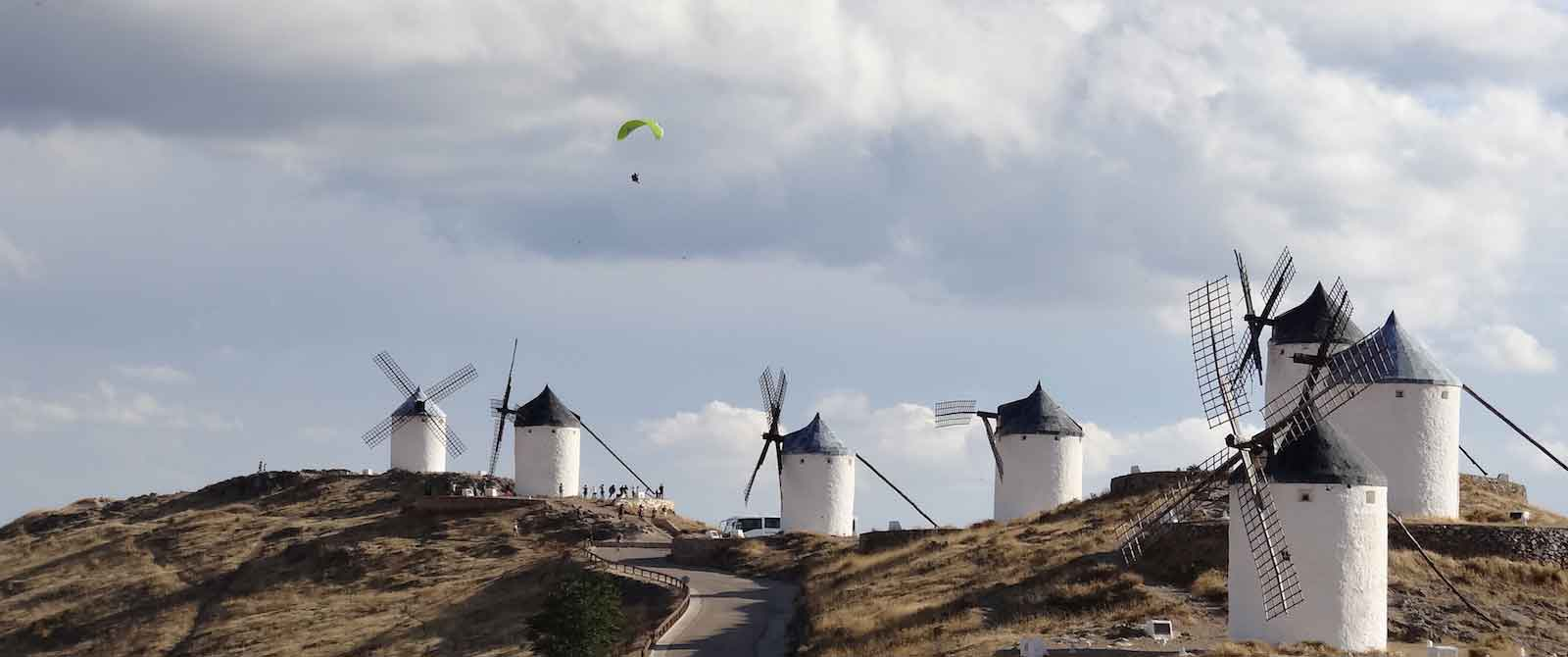 cycling holidays in spain windmills