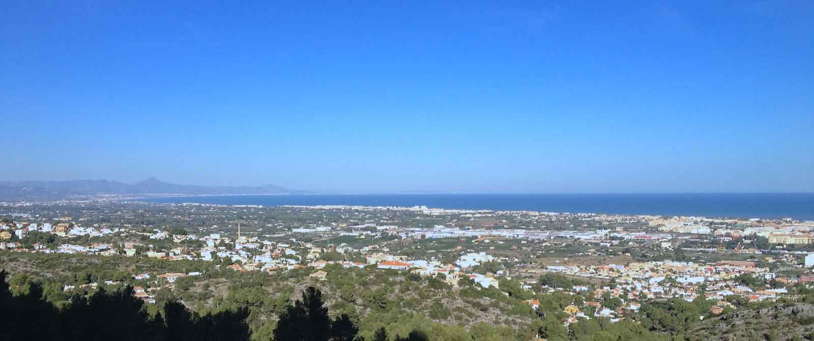 Panorama of coast and blue sky in Valencia