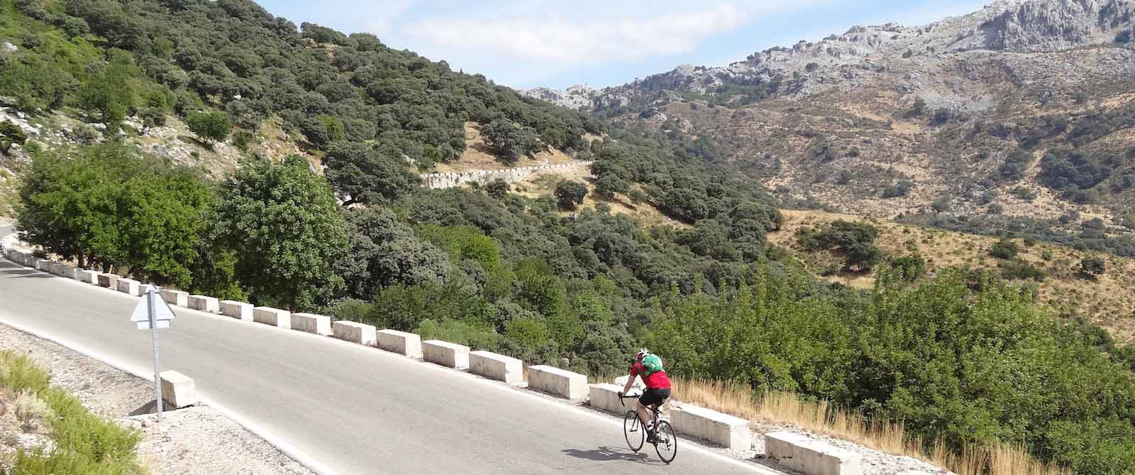 guided cycling tours in spain cyclist